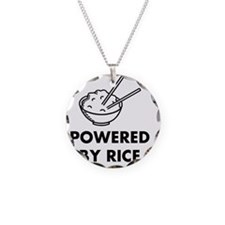 Powered By Rice Necklace Circle Charm