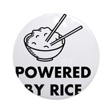 Powered By Rice Round Ornament