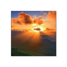 "Inspirational heaven sunset Square Sticker 3"" x 3"""