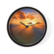 Inspirational heaven sunset Wall Clock