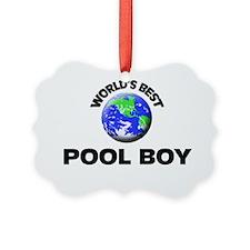 World's Best Pool Boy Ornament