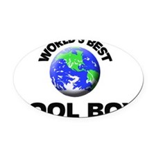 World's Best Pool Boy Oval Car Magnet