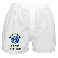World's Best Press Officer Boxer Shorts