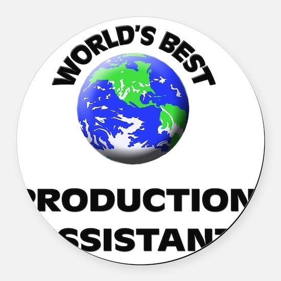 World's Best Production Assistant Round Car Magnet