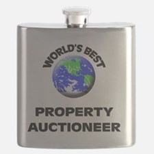 World's Best Property Auctioneer Flask