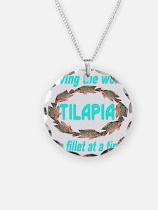 Spectacular Tilapia Ellipse Necklace