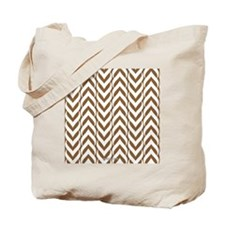 Chevron Zig Zag Pattern Brown Tote Bag