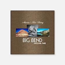 "Big Bend Square Sticker 3"" x 3"""