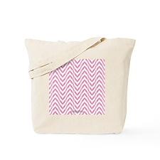 Chevron Zig Zag Pattern Pink Tote Bag