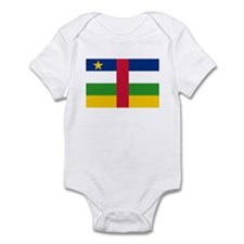 Central African Republic Flag Infant Bodysuit