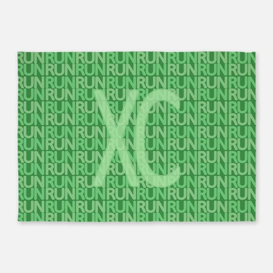 XC Run Run Green 5'x7'Area Rug