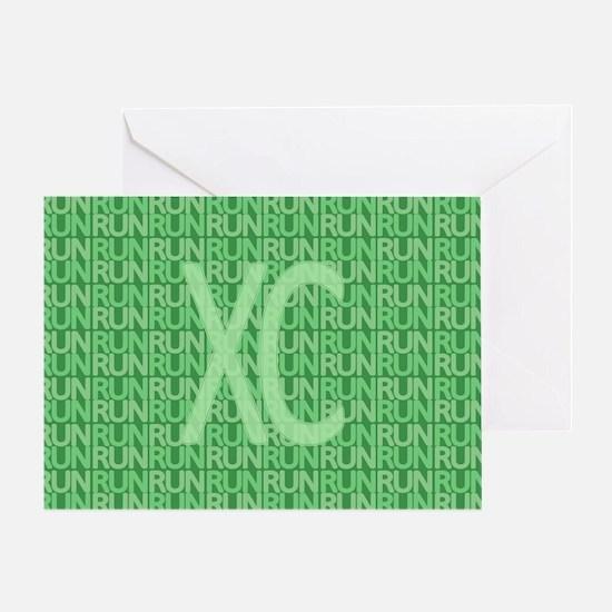 XC Run Run Green Greeting Card
