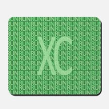 XC Run Run Green Mousepad