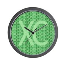 XC Run Run Green Wall Clock
