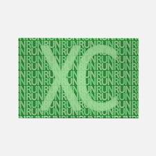 XC Run Run Green Rectangle Magnet