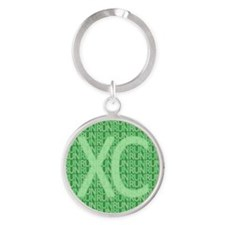 XC Run Run Green Round Keychain