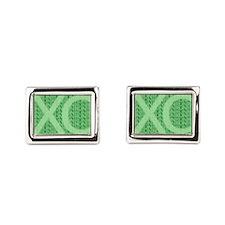 XC Run Run Green Cufflinks