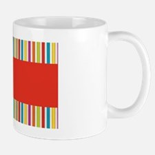 Bright Stripes with Red Mug