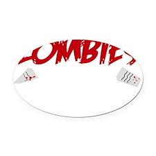 zombieAteHomework1B Oval Car Magnet