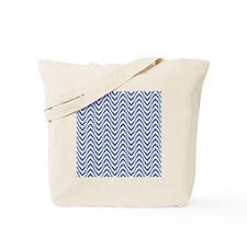 Chevron Zig Zag Pattern Royal Blue Tote Bag