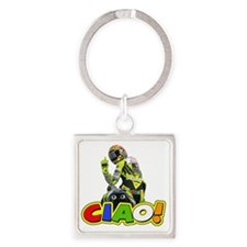 ciao Square Keychain