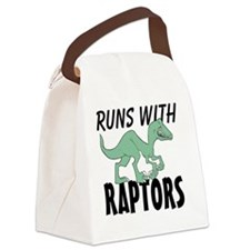 Runs with Raptors Canvas Lunch Bag