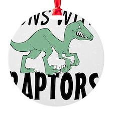 Runs with Raptors Ornament