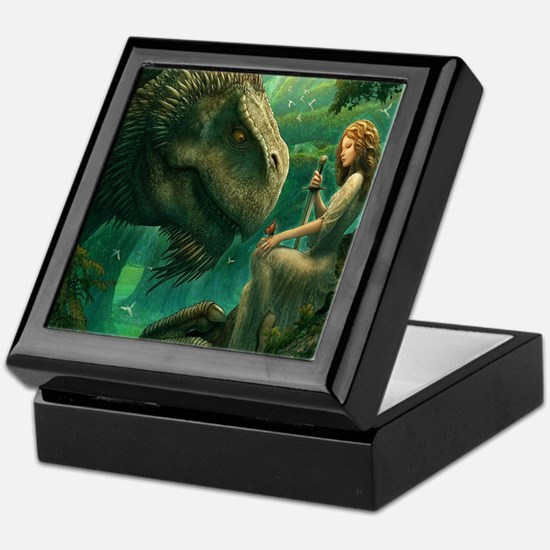 S-QUEENDUVET-3456X3456-greendragon Keepsake Box