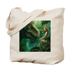 S-QUEENDUVET-3456X3456-greendragon Tote Bag