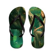 S-QUEENDUVET-3456X3456-greendragon Flip Flops