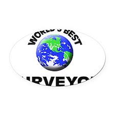 World's Best Surveyor Oval Car Magnet