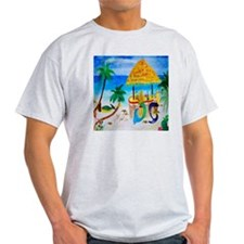 Mermaid Tiki Sunset Wine Bar T-Shirt