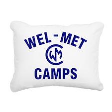 Wel-Met Camp Merchandise Rectangular Canvas Pillow