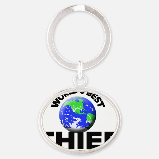 World's Best Thief Oval Keychain