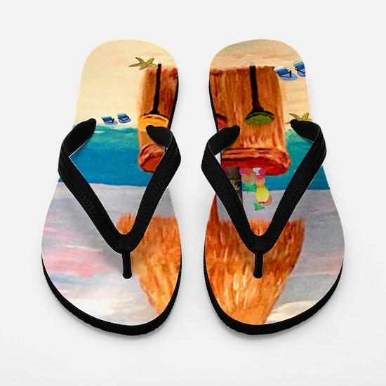 Tiki Bar Flip Flops