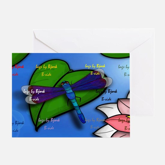 CAB dragonfly shoulder B side Greeting Card