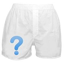 Question Mark - Blue Boxer Shorts