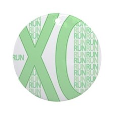 XC Run Run Green Round Ornament