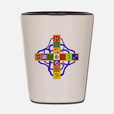 Greek Astrological Cross Shot Glass