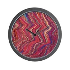 Abstract colorful pattern prints Wall Clock