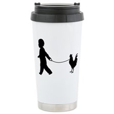 Baby and Chicken black Travel Mug