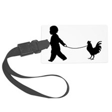 Baby and Chicken black Luggage Tag
