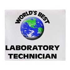 World's Best Laboratory Technician Throw Blanket