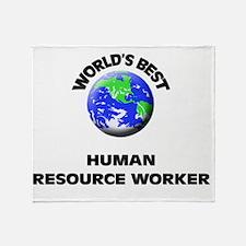 World's Best Human Resource Worker Throw Blanket