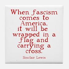 Sinclair Lewis on Fascism Tile Coaster
