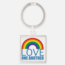 loveoneanother Square Keychain