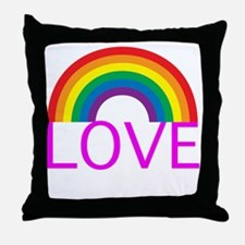 loveoneanotherpinkwh Throw Pillow