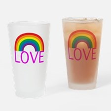 loveoneanotherpinkwh Drinking Glass