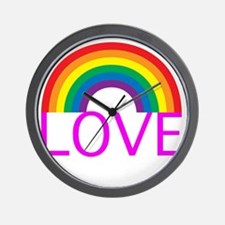 loveoneanotherpinkwh Wall Clock