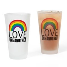 loveoneanotherred Drinking Glass
